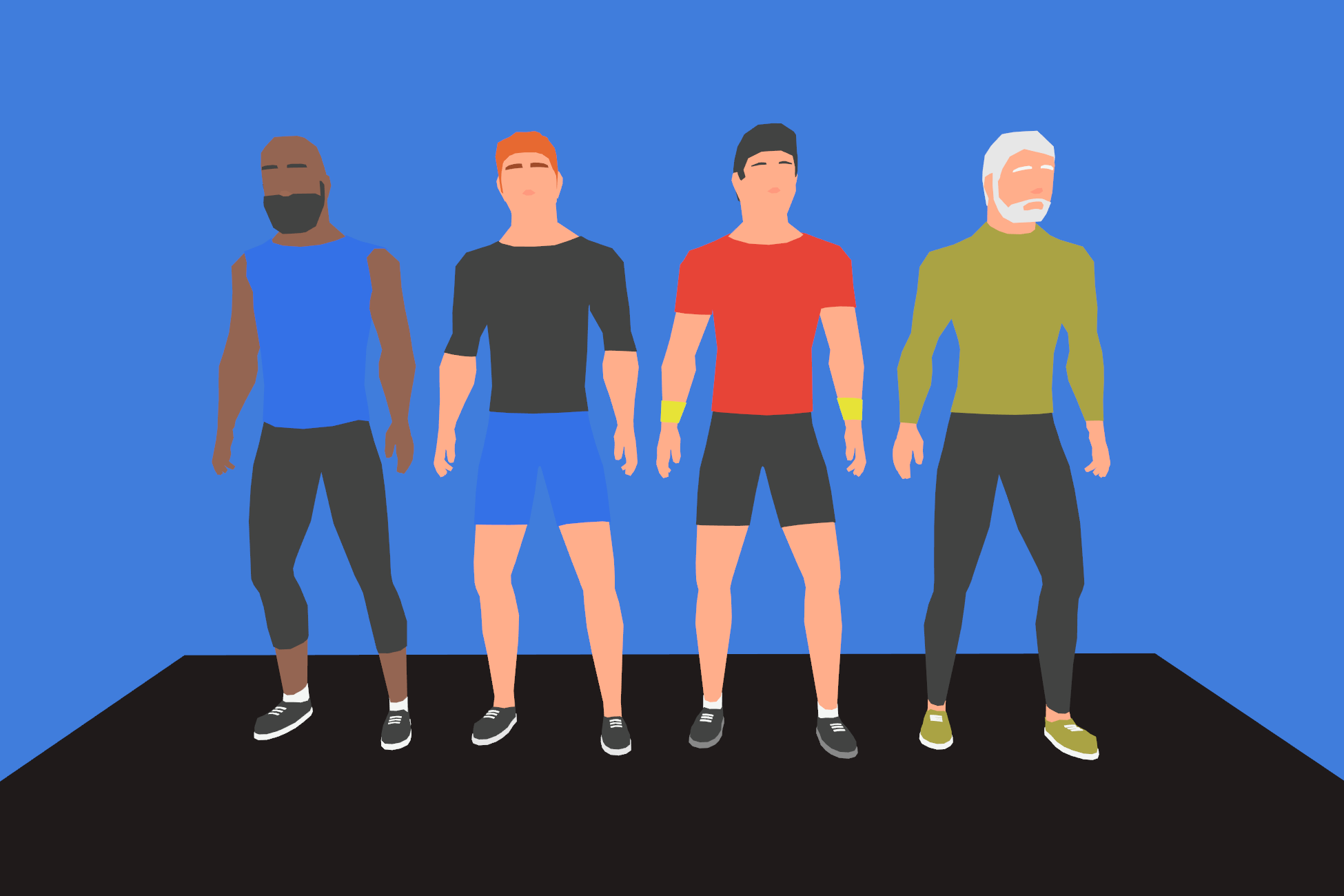 LowPoly Fitness Characters