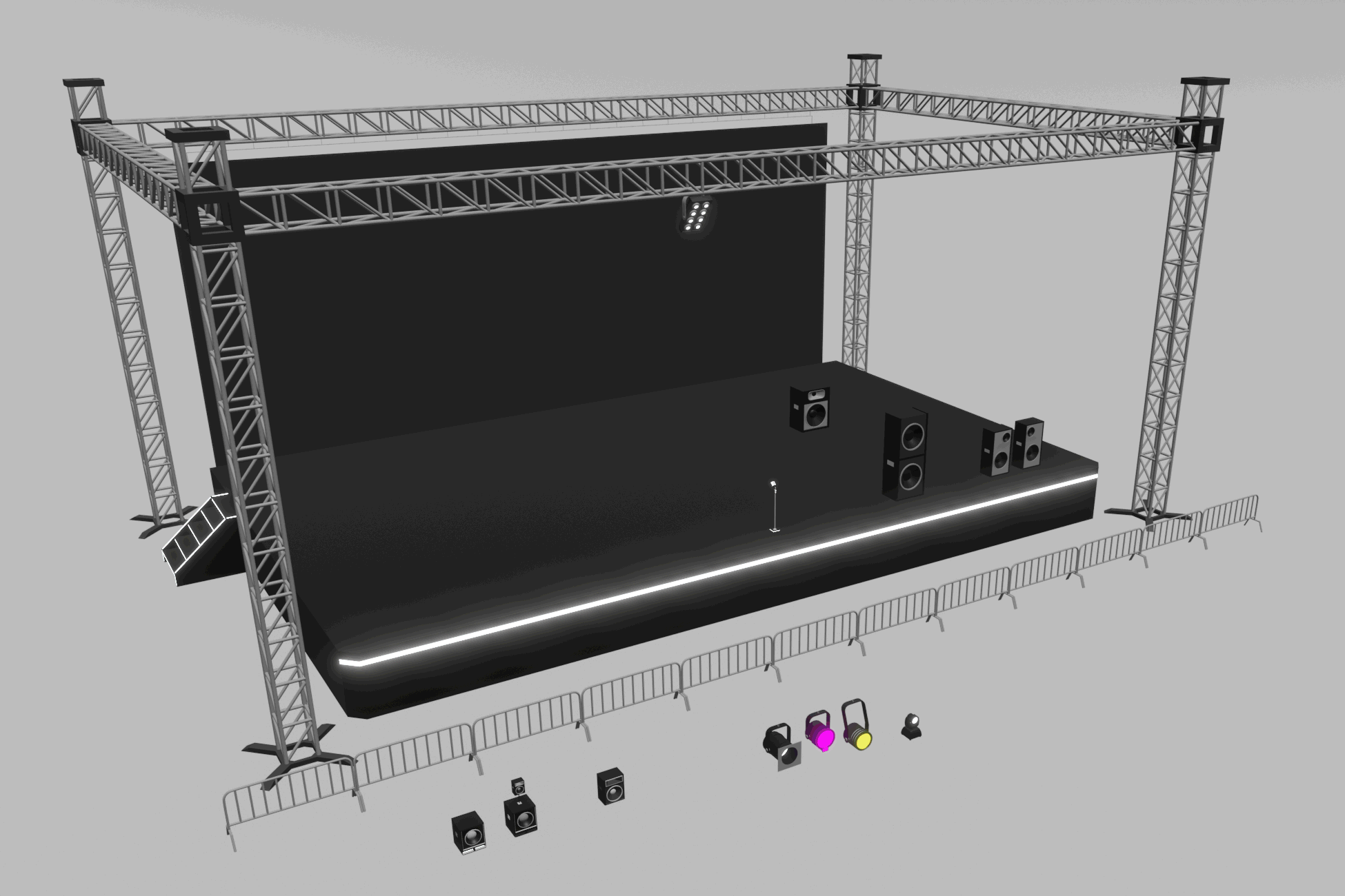 Lowpoly Concert Pack