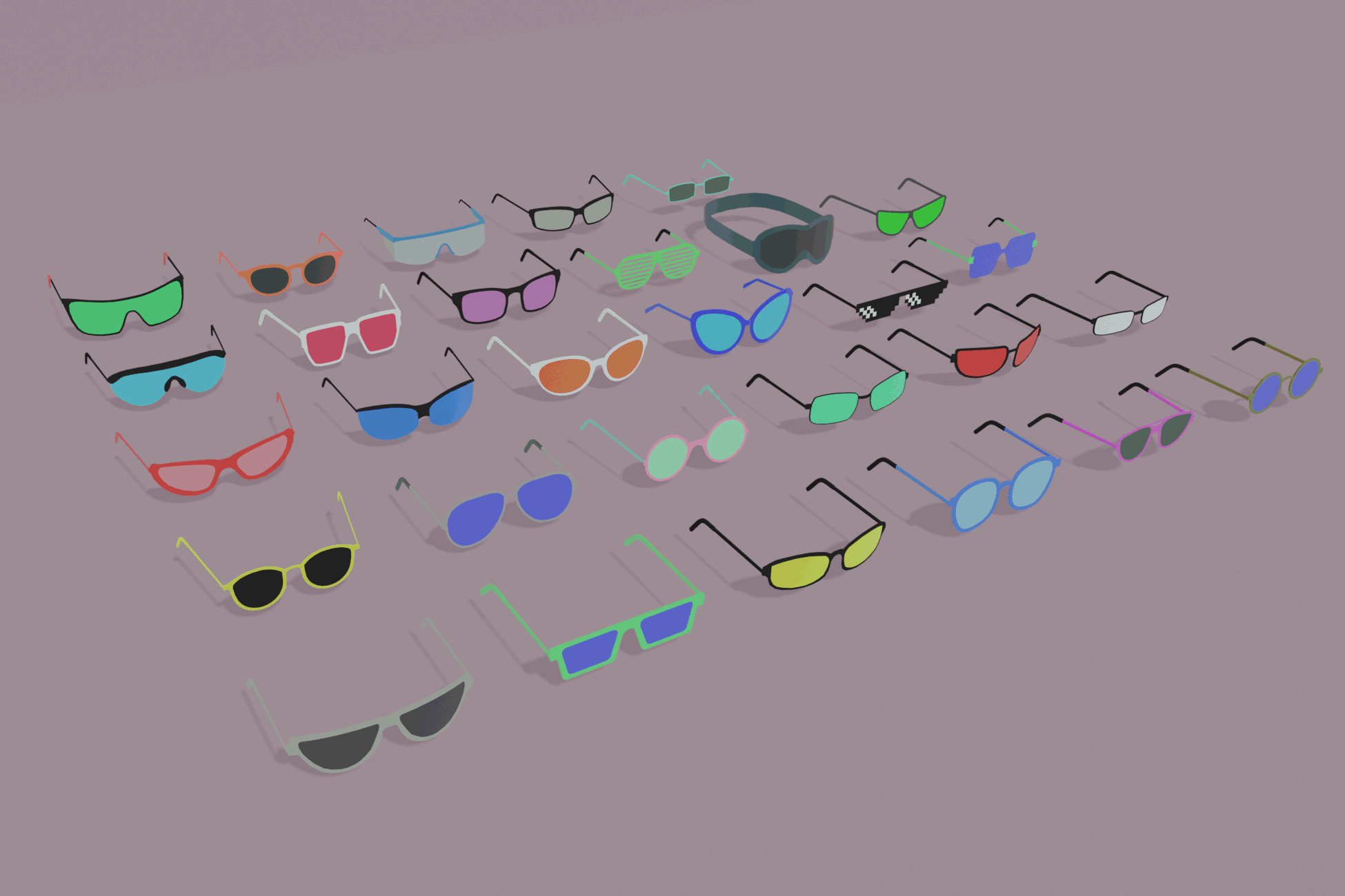 Lowpoly Glasses