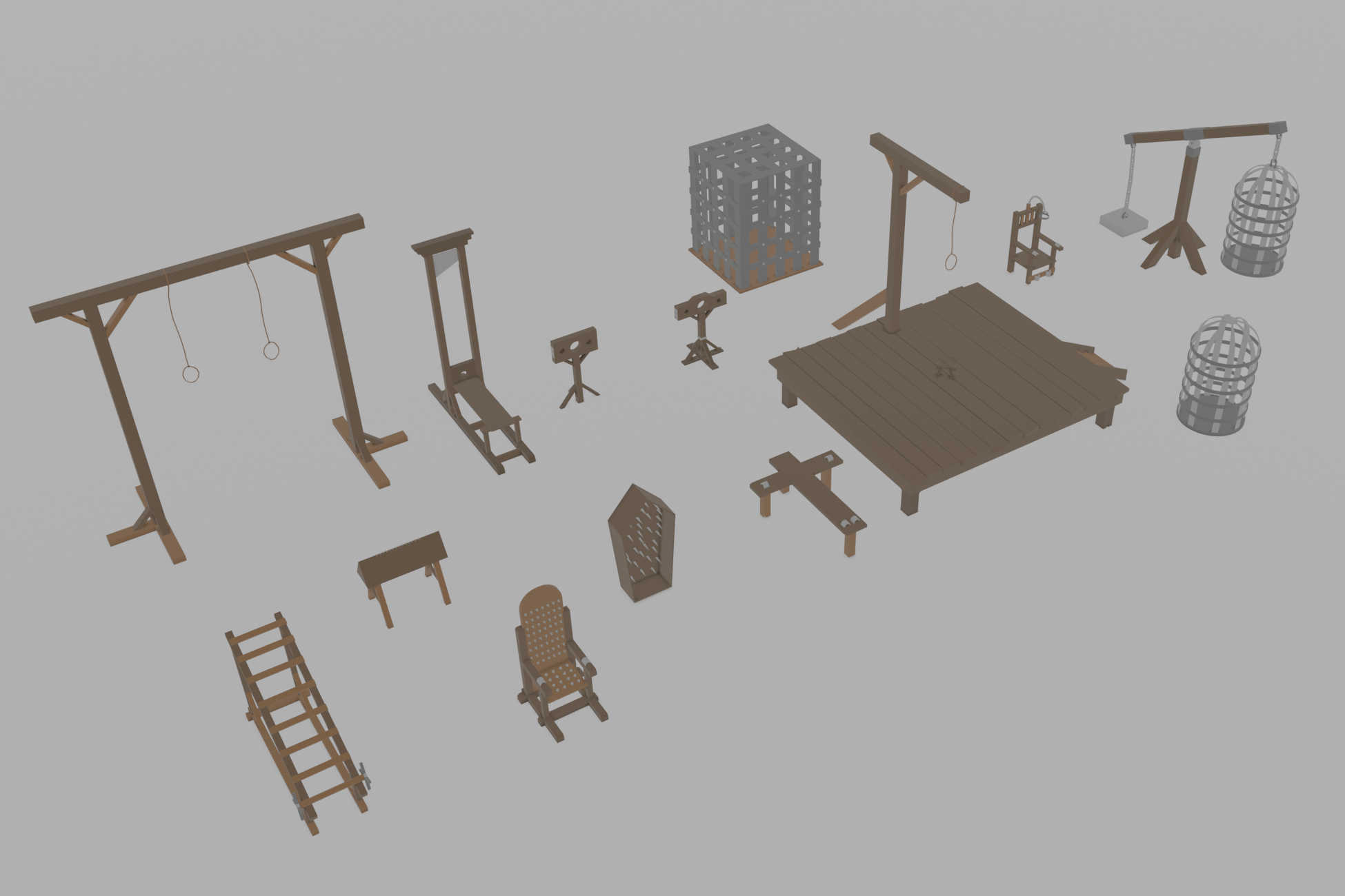Lowpoly Torture Devices